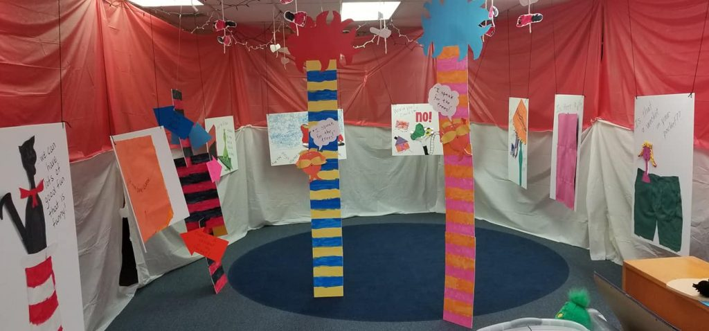 Dr. Seuss-Themed Art Show by Preschool Students