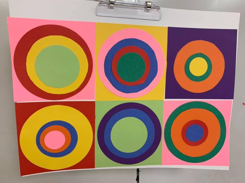 Kandinsky-Style Art Project for Pre-K Students
