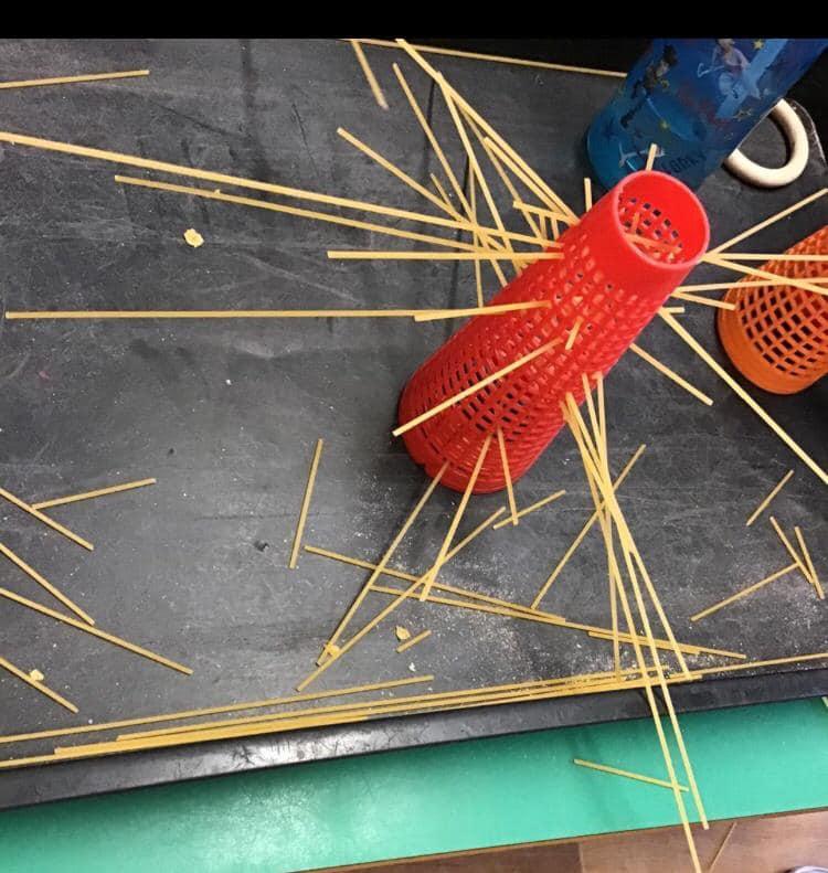 Spaghetti and Cone Fine Motor Skill Development Activity