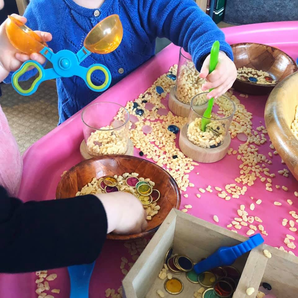A Number of Sensory Table Ideas