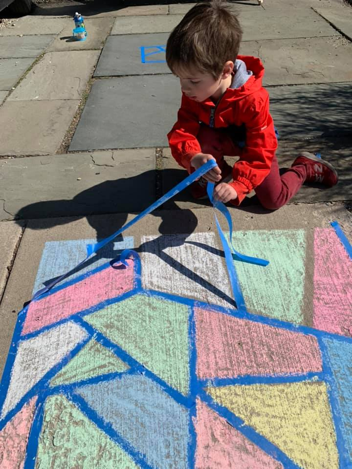 Geometric Shapes Chalk Activity