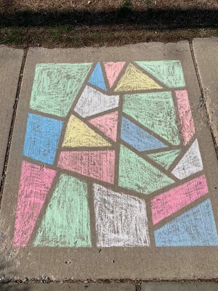 Painter's Tape Sidewalk Chalk Activity Idea