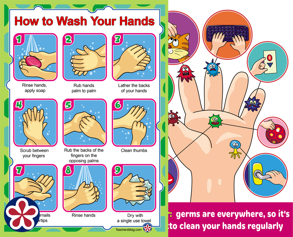 """How To Wash Your Hands,"" Printable Posters for Young Children"