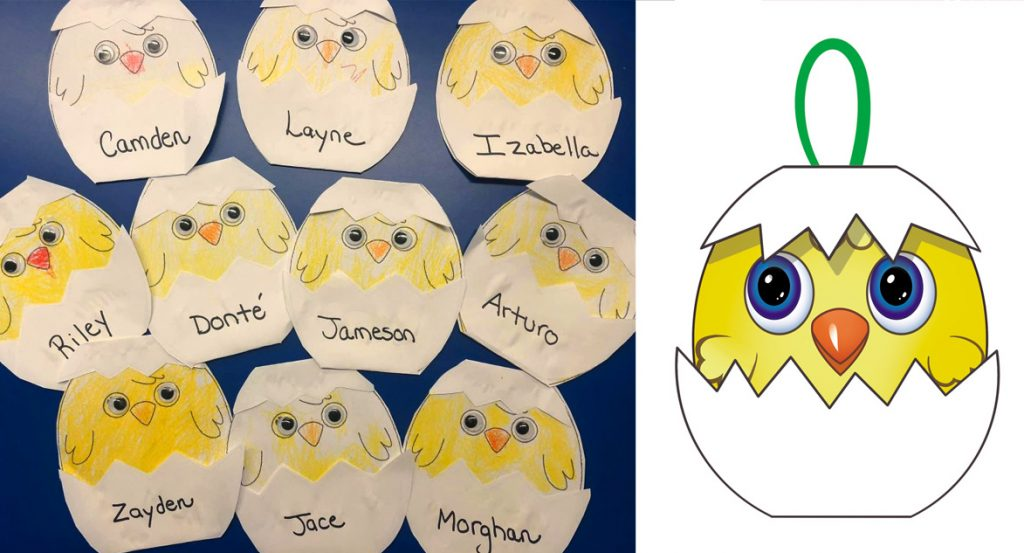 Baby Chicks Craft Template for Use With Preschoolers