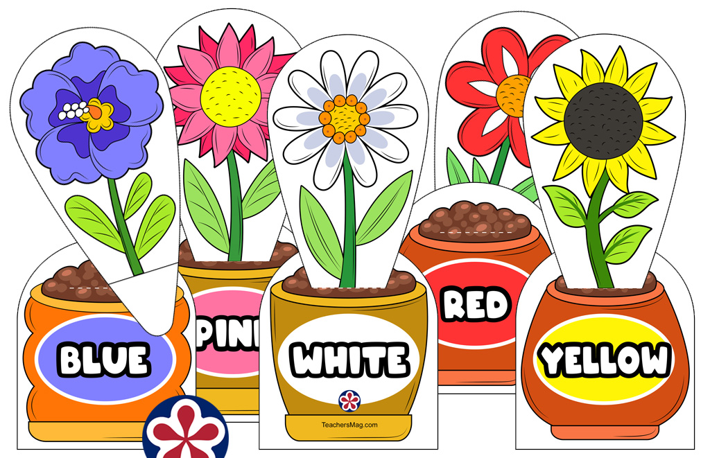 Flower Color Matching Activity for Preschool Students