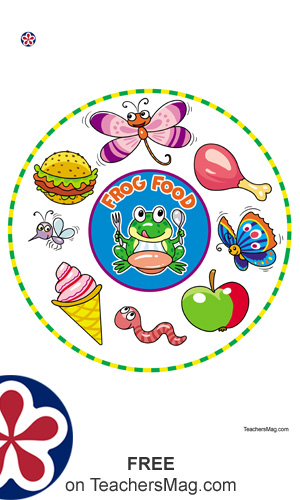 Frog Food and Frog Predator Worksheets For Young Students