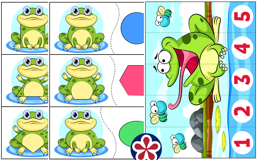 Frog-Themed Shape and Counting Activity Worksheets