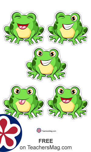 Free Five Little Frogs