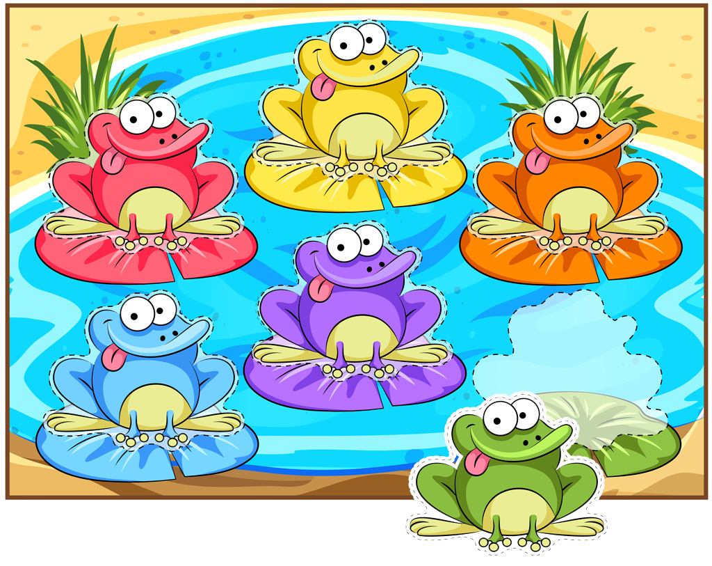Funny Frogs Color Matching Activity