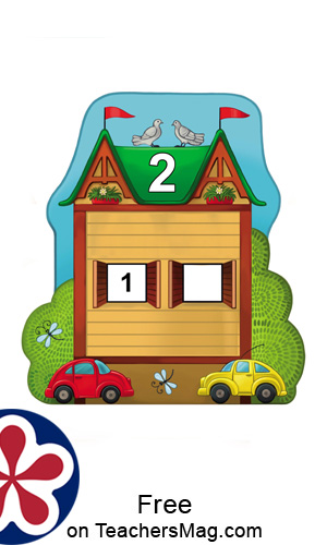 Number Houses Counting Sheets for Young Children (One Through Five)