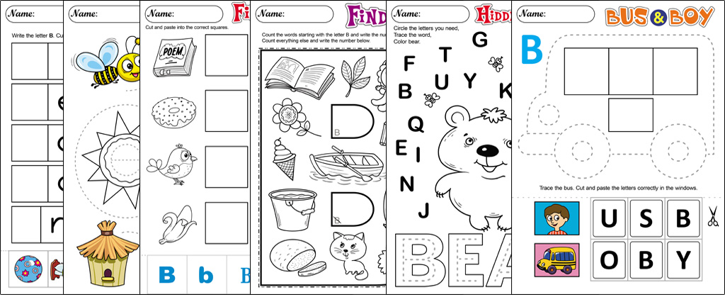 Worksheets About the Letter B