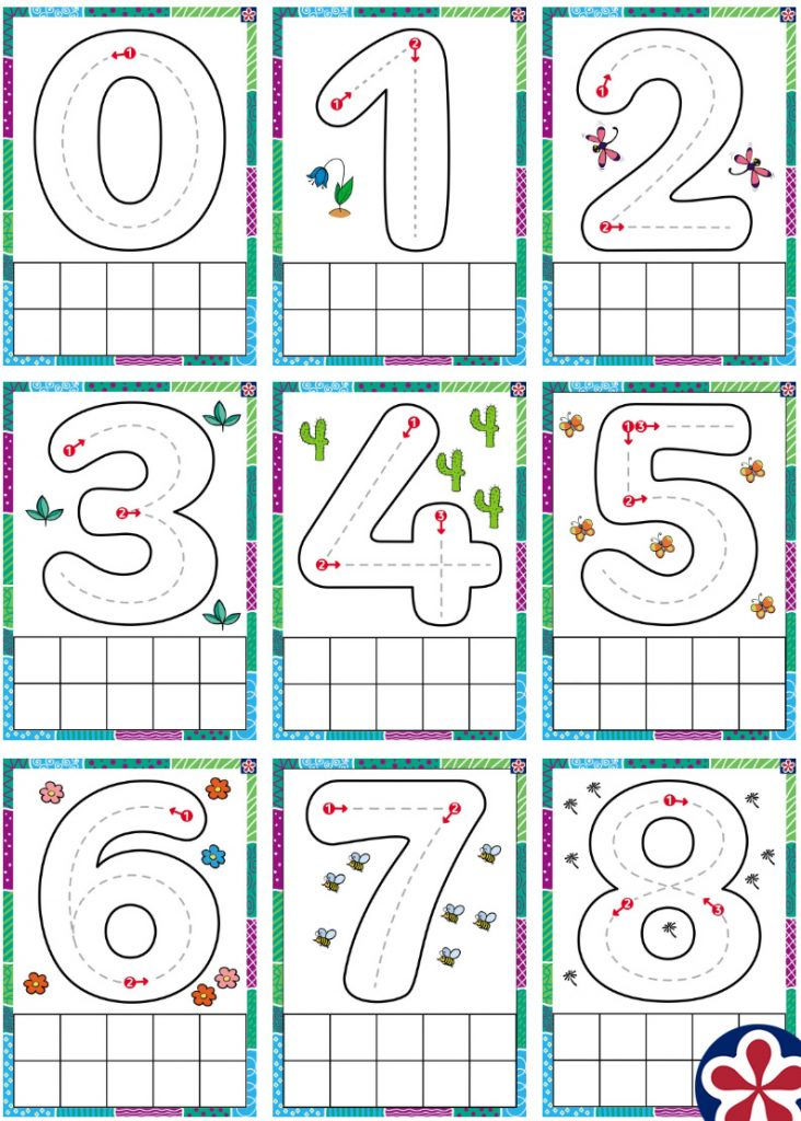Numbered Play-Doh Mats