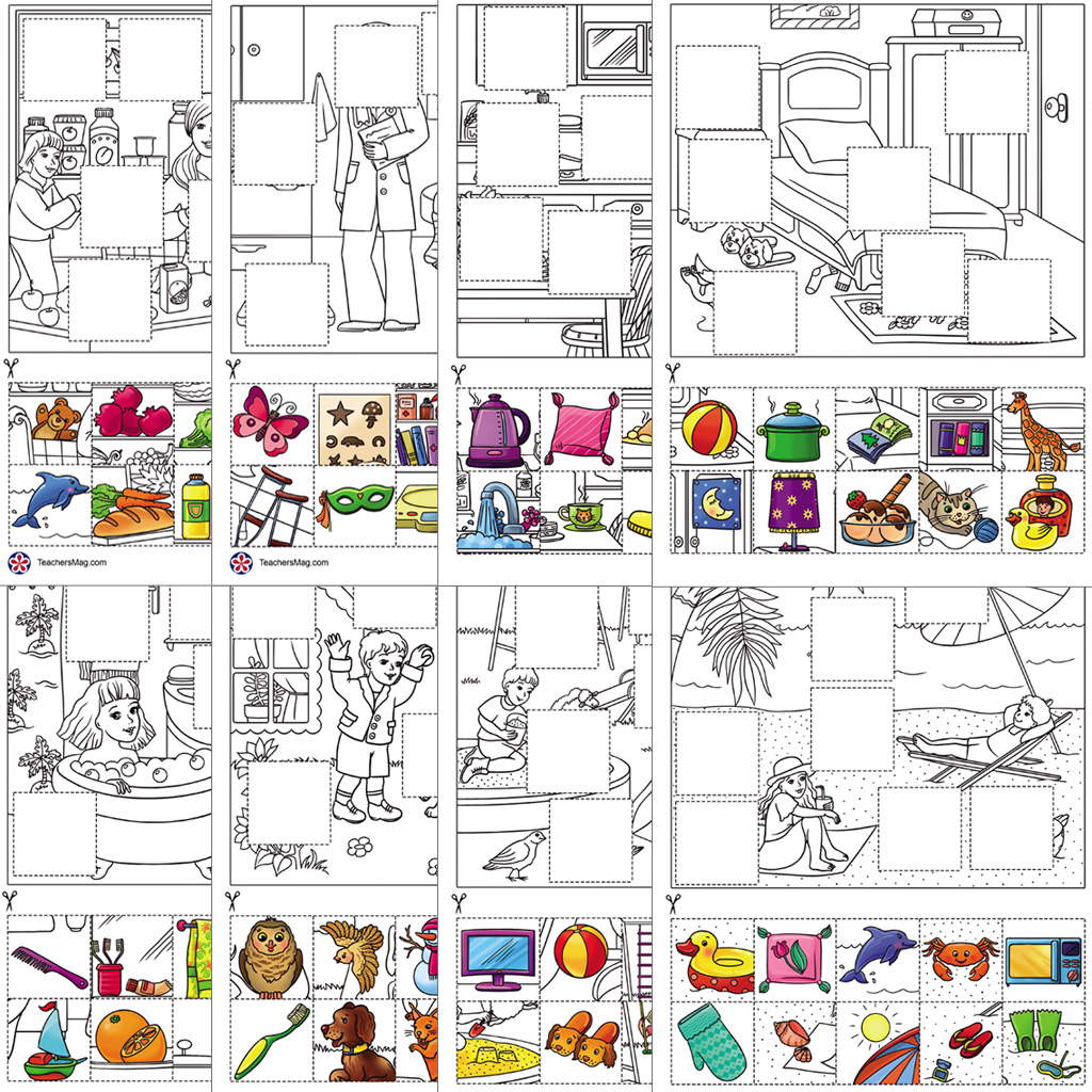 Free Printable Image Search and Placement Activity for Young Students