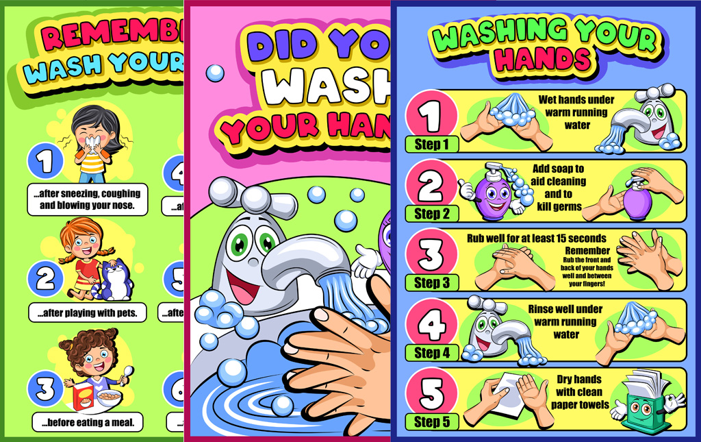 Posters About Washing Our Hands