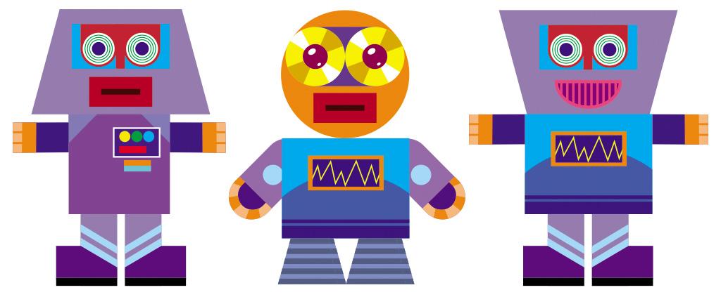 Roll a Robot Papercraft Game