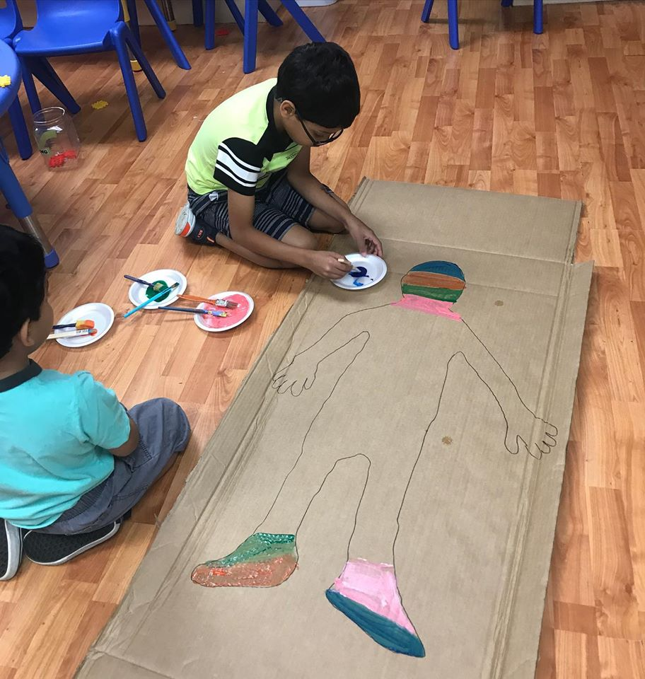 Painting Activity: Filling-in a Silhouette of Your Child