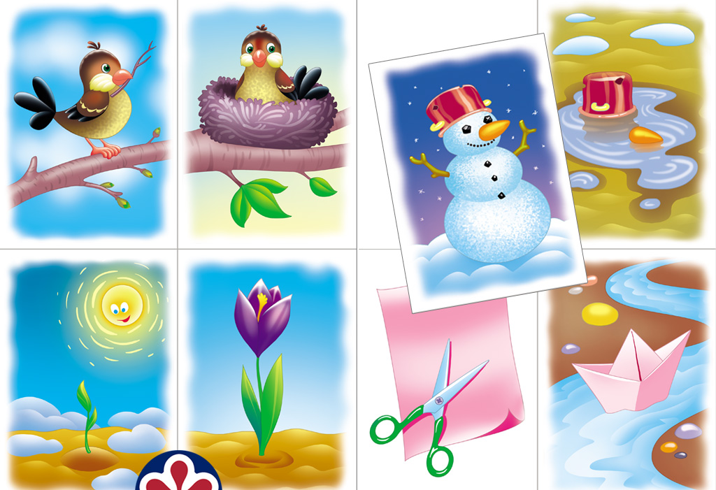 Free Printable Spring-Themed Activity Cards for Preschoolers