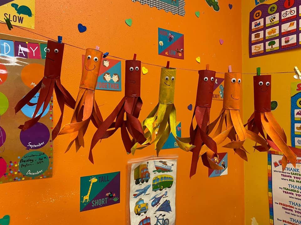 Toilet Paper Roll Squid Craft for Preschool Students