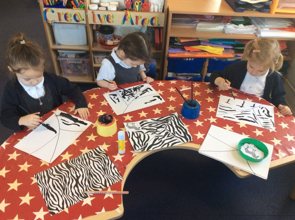 Zebra Print Artwork Activity for Preschoolers