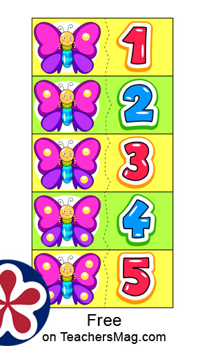 Butterfly Spot Counting Activity for Kids