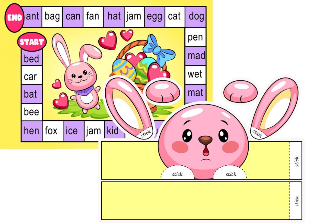 Easter Word Board Game (3 Letter Words)