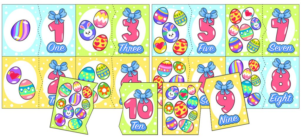 Easter Egg Math Matching Activity