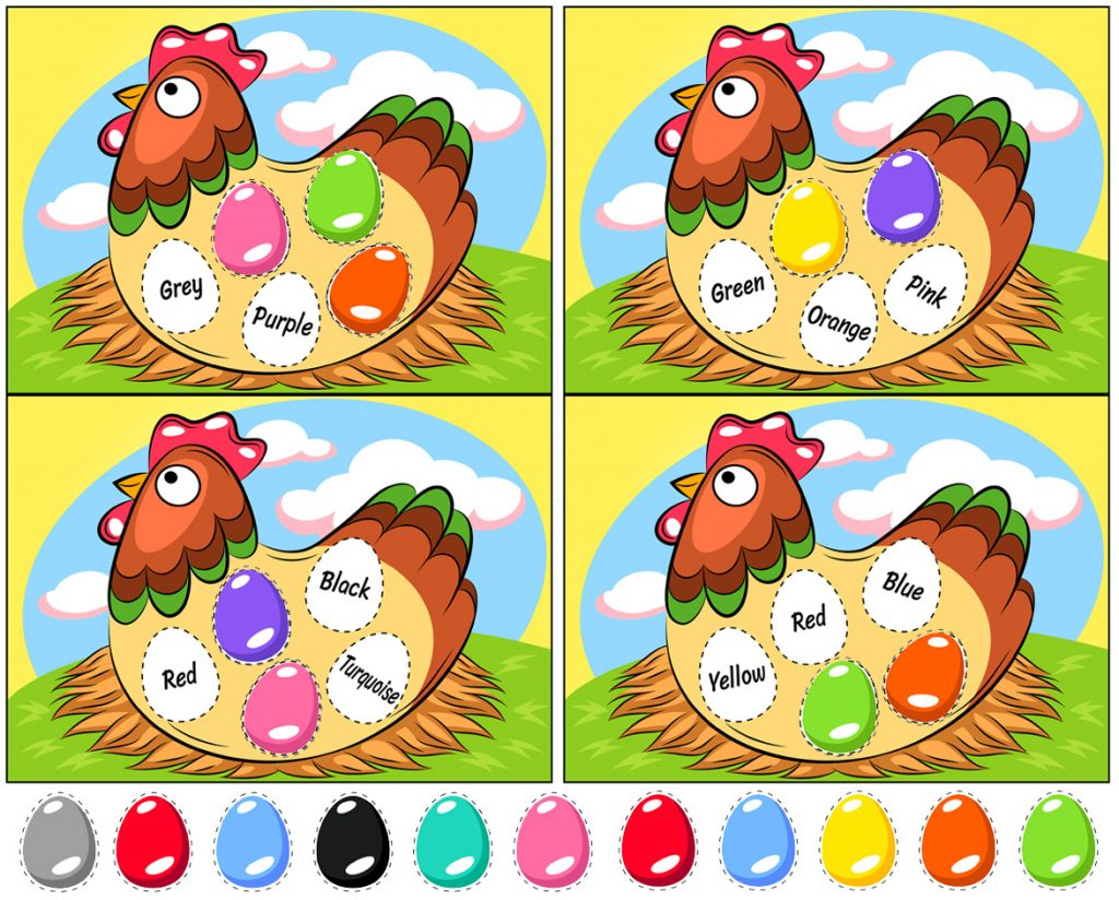 Easter Egg Color-Matching Activities