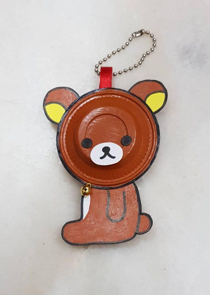 Plastic Plate Brown Teddy