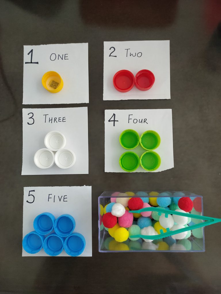 Color Matching + Counting Activity for Kids