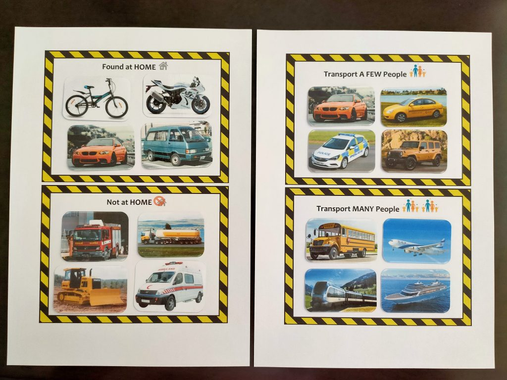 Transport Sorting Activity for Kids Who Love Cars!
