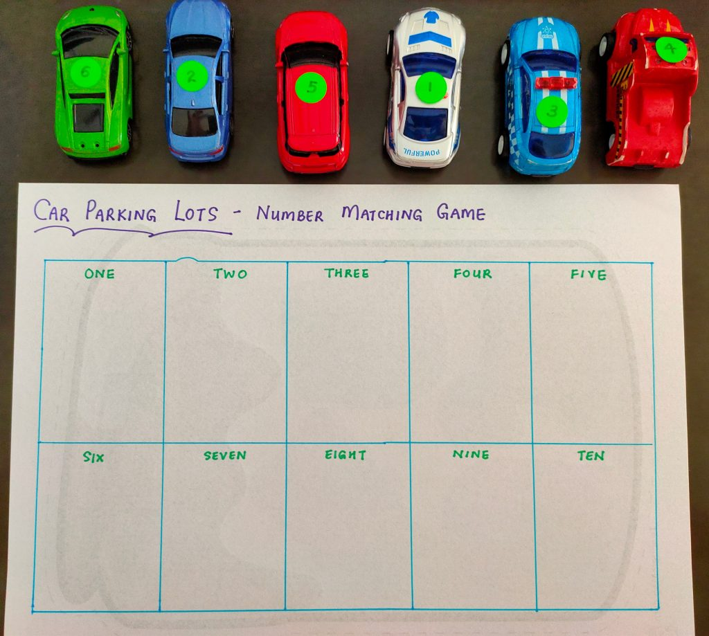 Learning Activity with Cars for Kids