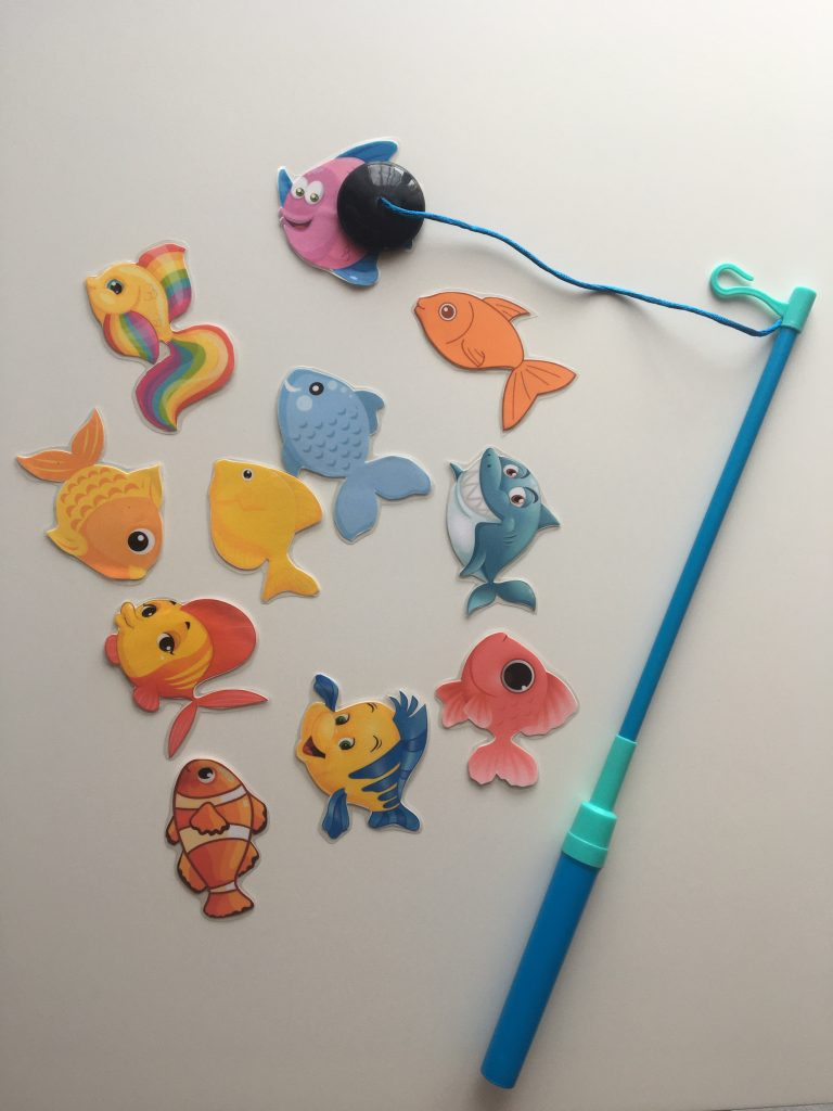 Magnetic Fishing and Matching Game for Kids
