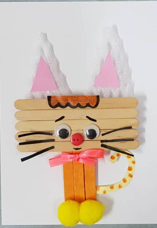 Popsicles Stick Kitty Craft