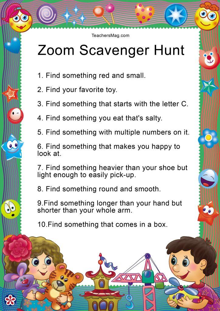 Zoom Scavenger Hunt To Do With Preschoolers Teachersmag Com