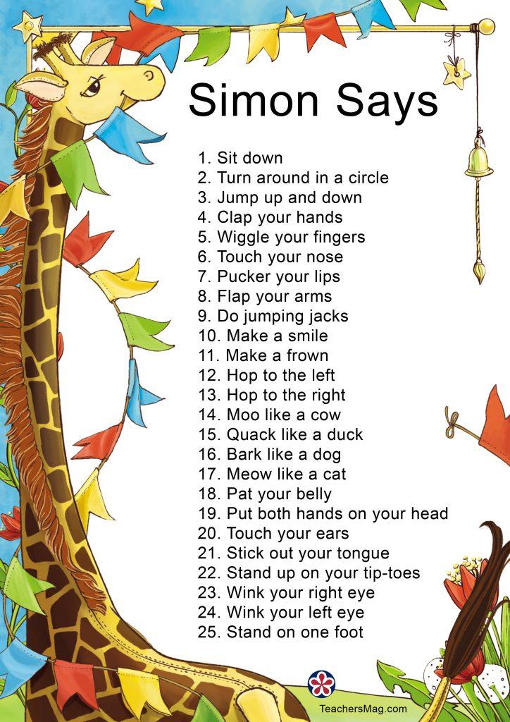 ZOOM Simon Says
