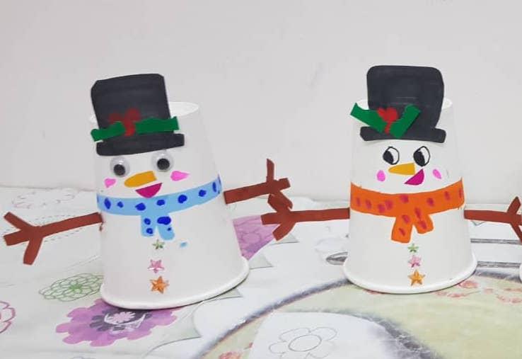 DIY Little Snowman Paper Cup