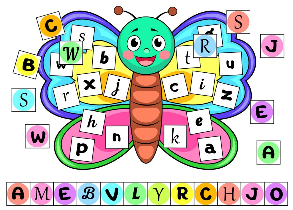 Butterfly Letter-Matching Activity for Kids
