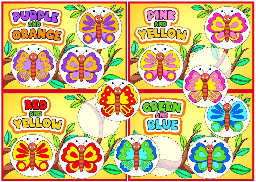 Printable Butterfly Color Matching Activity