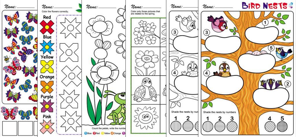 Spring-Themed Worksheets for Preschool