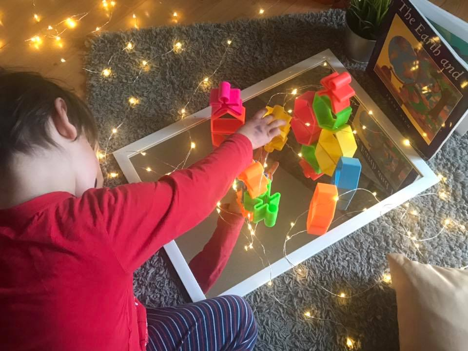 Mirrors, Lights, and Toys Exploration Activity for Preschoolers