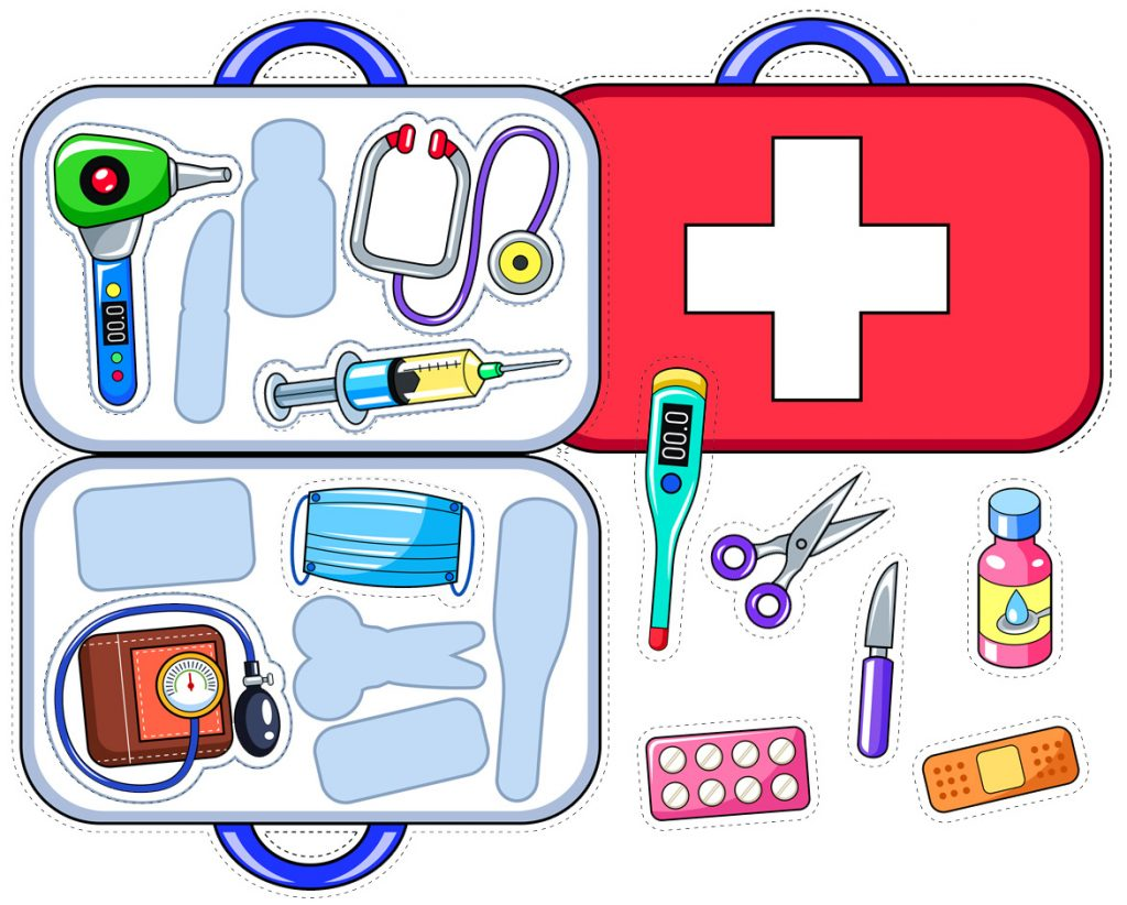 Doctor's Bag Printable Matching Activity for Kids