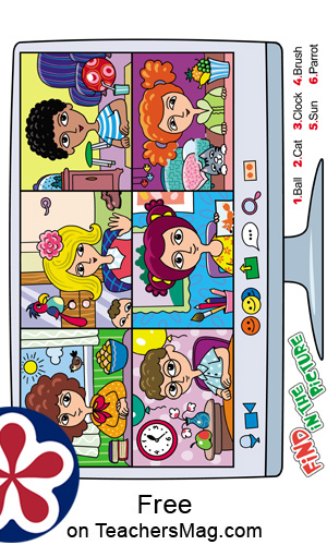 Zoom I Spy and Differences Game for Children
