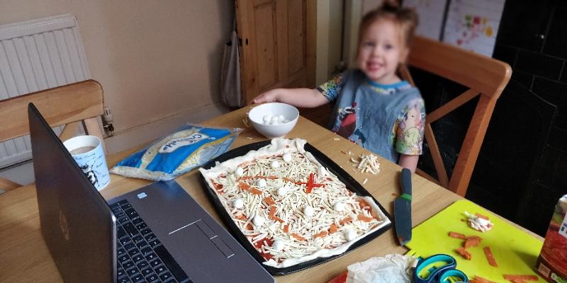 Making Treasure Map Pizzas with Preschoolers