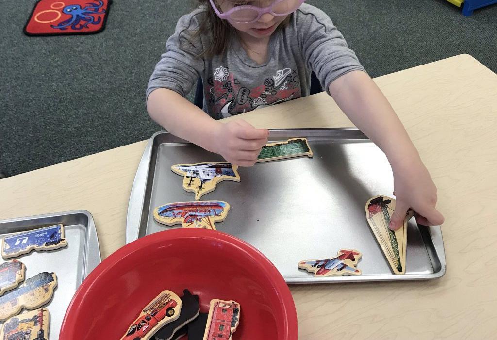Transportation Magnet Board Activity for Kids