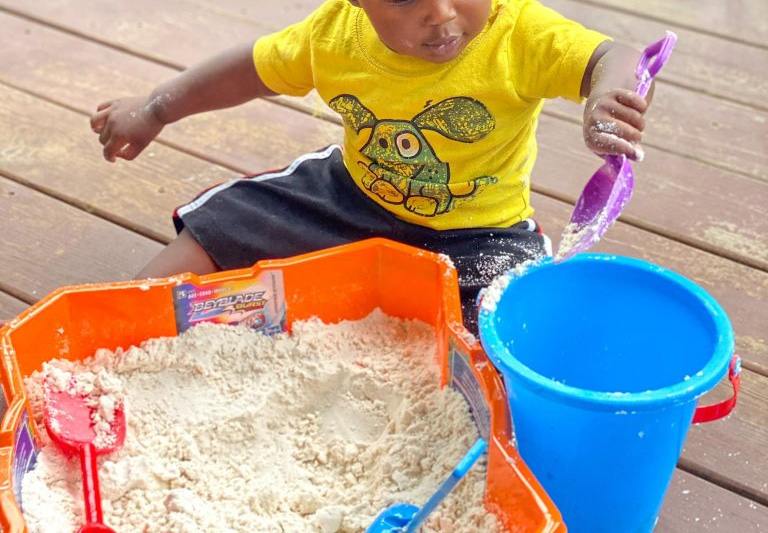 Moon Sand Sensory Activity for Toddlers