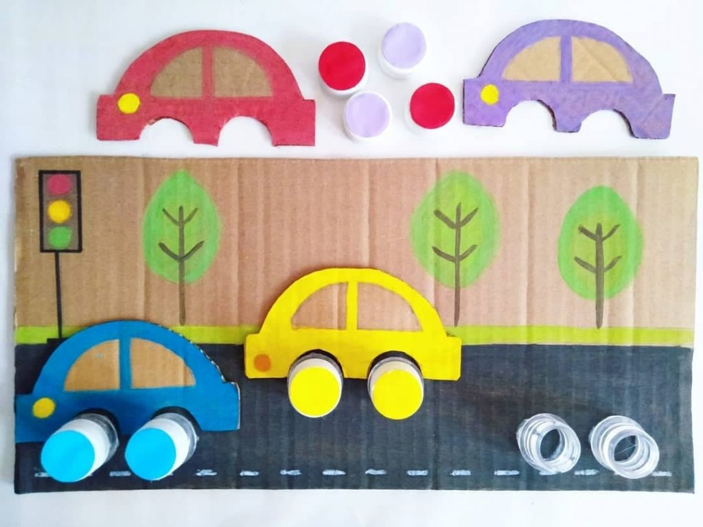 Cardboard Cars Craft Activity for Kids