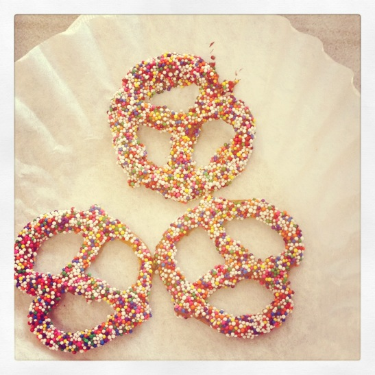 Making Chocolate and Sprinkle Pretzels With Your Preschooler!