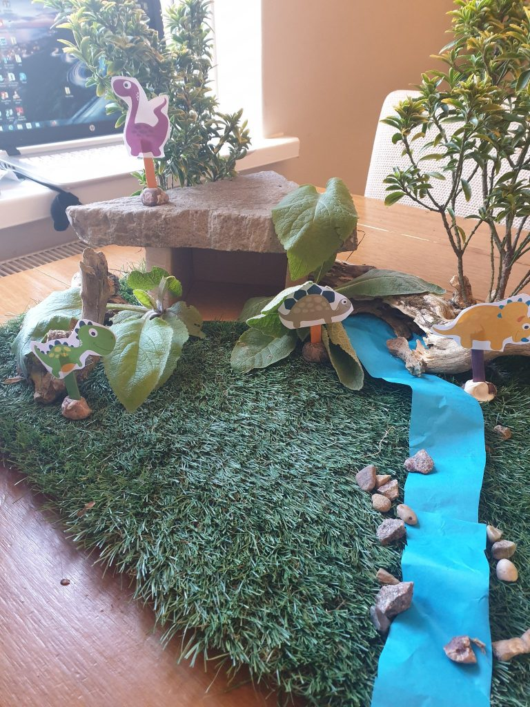 Making a Dinosaur Den in Your Home!