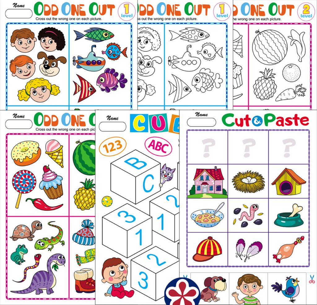 Kindergarten-Level Worksheets to Use for Distance Learning