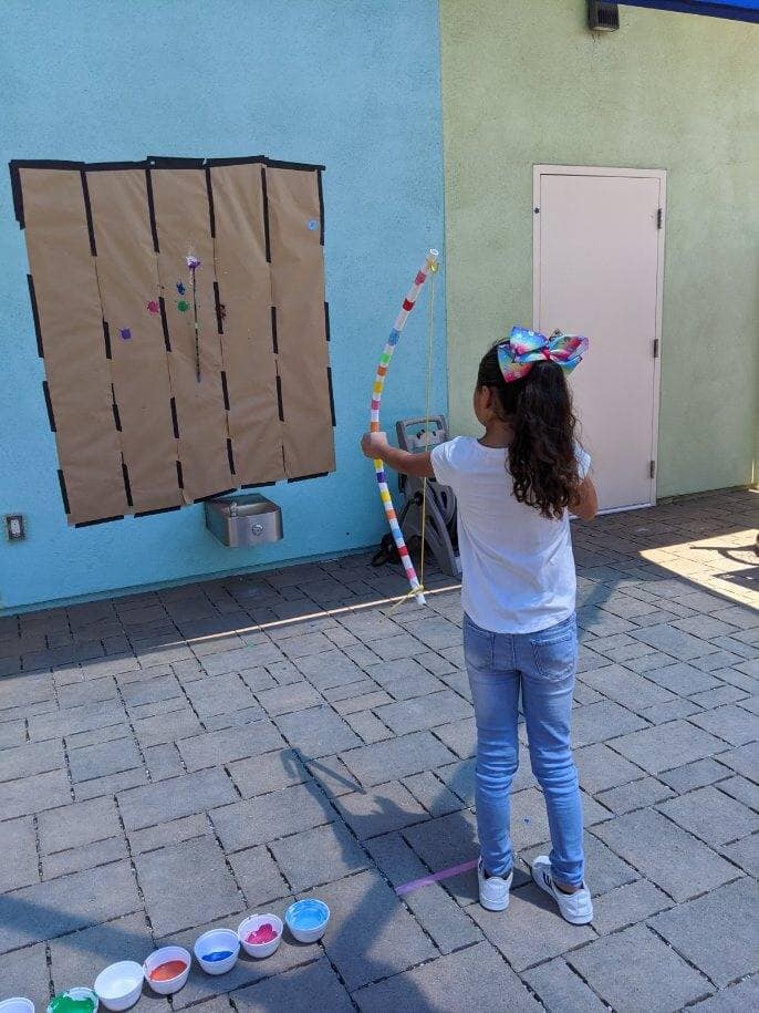 Painting With Archery for Preschoolers